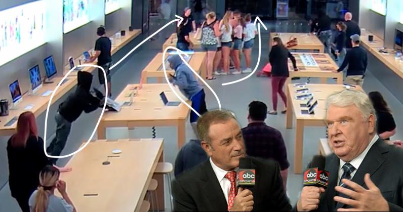 4 tên cướp cuỗm 26 iPhone, Macbook trong chưa đầy 60 giây | Công nghệ